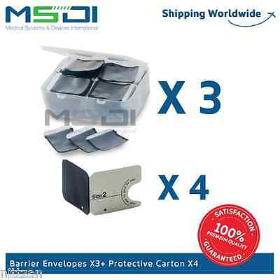 2700 x Barrier Envelopes + Carton Covers Size #2 for phosphor plates