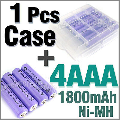 1 x Case + 4 AAA Ni-MH 1800mAh rechargeable battery P1