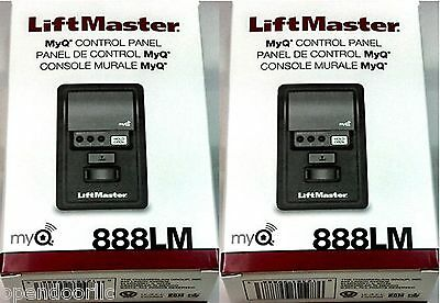 888LM 2PACK LiftMaster Security+ 2.0 MyQ Wall Control AssureLink Sears compatibl
