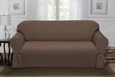 Chocolate Brown Lucerne Sofa Slipcover, Couch Cover, Sofa, Chair, 4 Colors