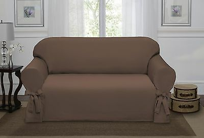 Chocolate Brown Lucerne Love Seat Slipcover, Couch Cover, Sofa, Chair, 4 Colors