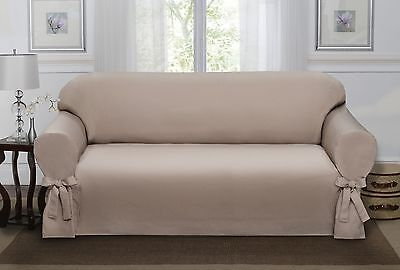 Sand Lucerne Sofa Slipcover, Couch Cover, Sofa, Love Seat, Chair, 4 Colors