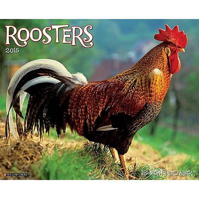 2015 Roosters Wall Calendar Willow Creek Press