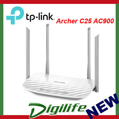 TP-Link Archer C25 AC900 Wireless Dual-Band Router - NBN Ready