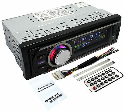 New Car Audio Stereo Systems InDash FM Aux Input Receiver SD USB MP3 Radio Music