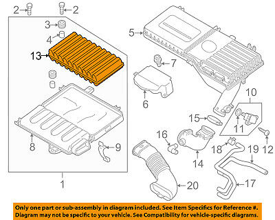 MAZDA OEM 11-14 2 Engine-Air Filter Element ZJ0113Z40