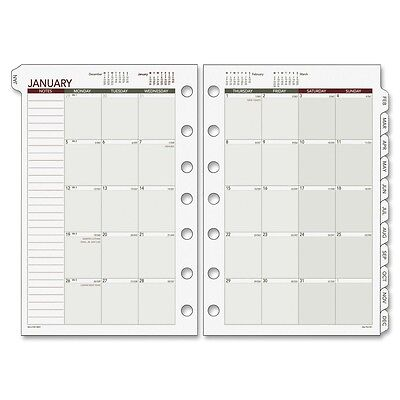 """Day Runner 061685Y Mthly Planner Pages Refill, Jan/Dec, 5-1/2""""x8-1/2"""", WE"""