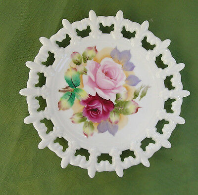 Vintage Lefton China Plate, Roses