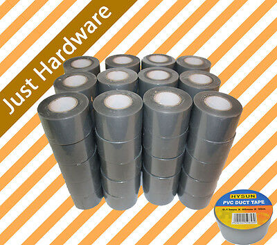 PVC Duct Tape 48mm x 30m Great Quality GREY SILVER