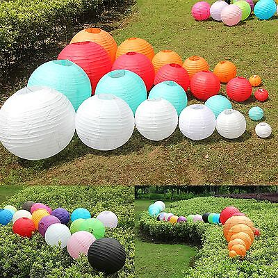"""8"""" 10"""" 12"""" 16"""" Multicolor Chinese Paper Lantern Wedding Party Decoration"""