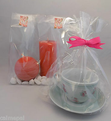 "10000 x Clear Cello Gift Party Display Sweet Bags  Gusset 12""  x 7"" x 4.75"""