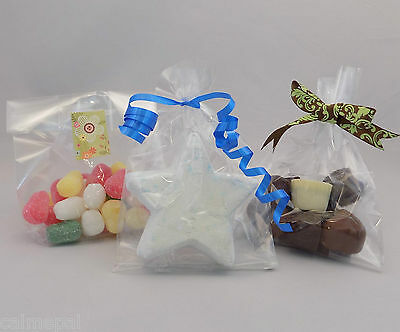 "5000 x Clear Cello Gift Party Display Sweet Bags  Gusset 7"" (tall) x 4"" x 2.75"""