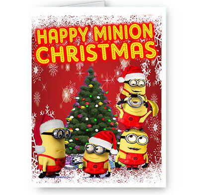 Happy Minion Christmas, Despicable Me, A5 Merry Christmas Card