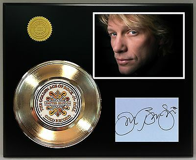 Bon Jovi Gold Record Signature Series Limited Edition Display Free Shipping