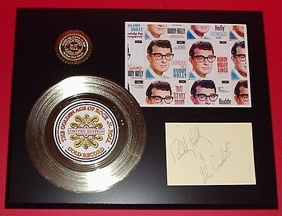 Buddy Holly Gold Record Signature Series Limited Edition Display