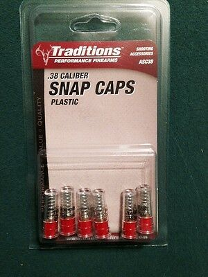 Traditions Snap Caps .38 Caliber 6 PACK  ASC38