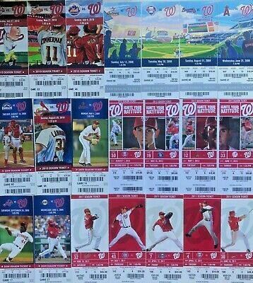 2008-2010 Washington Nationals Season Ticket Stubs - Mint Condition! Free Ship