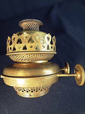 1870's Rare Patent P&A Double Thumbwheel Fancy Brass Kerosene Oil Burner