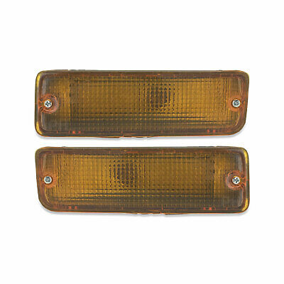 Toyota Hilux Ute 88 - 97 Pair Of Amber Front Bar Indicator Lights New