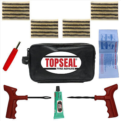 Car Van Truck Agri Tyre Tire Puncture Repair Kit With 20 Strings