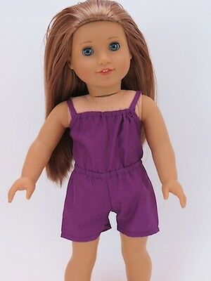 Purple Romper Doll Clothes Made To Fit 18 Inch American Girl