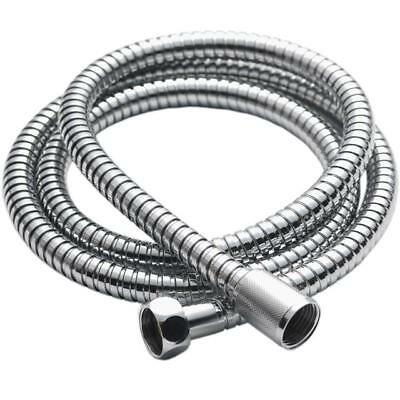 Stainless Steel1.5M Chrome Flexible Bathroom Bath Shower Head Hose Pipe Washers