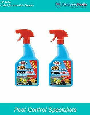 Fast acting weedkiller, moss, algae and garden weeds 1L RTU Killer weed spray x2