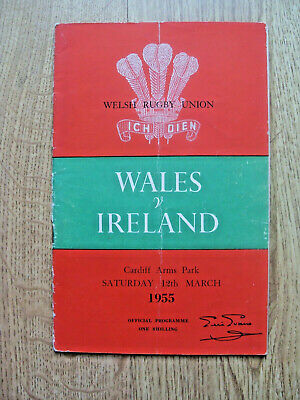 Wales v Ireland 1955 Signed Rugby Programme