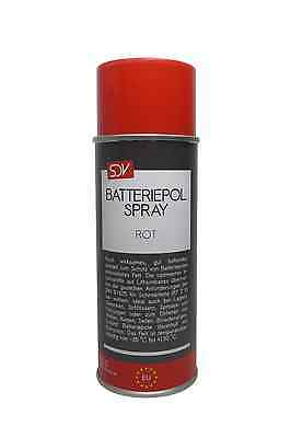 BATTERIEPOLFETT SPRAY ROT 1x 400ml Batterie Pol Fett Spray Kontaktfett Fettspray