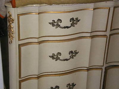 White And Gold White And Gold French Provincial Bedroom Set