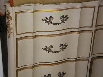 2 white french provincial nightstands sears bonnet vintage - White and gold bedroom furniture set ...