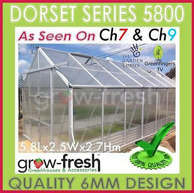6mm ALUMINIUM POLYCARBONATE Garden GREENHOUSE Shade GREEN HOT HOUSE Shed 5.8S