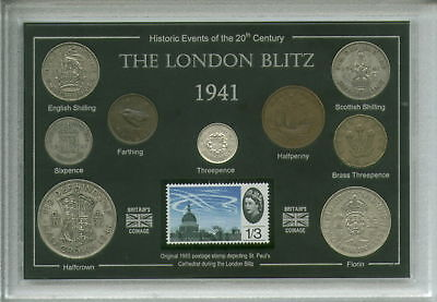The Blitz Bombing of London WWII Spirit Remembrance Coin & Stamp Gift Set 1941