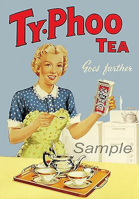 Vintage Liptons Tea Advertising Poster Print A3//A4