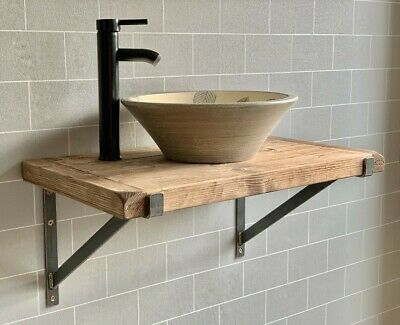 Solid Beam Large double Basin Vanity Unit Wash stand Rustic Furniture hand made