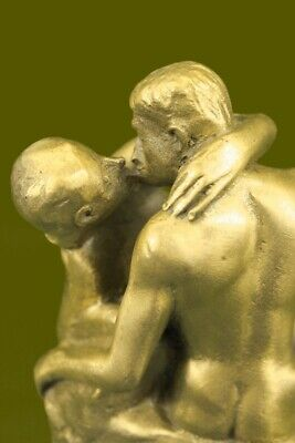 The Kiss by Rodin Solid Bronze Collectible Sculpture Statue - Free Shipping Art