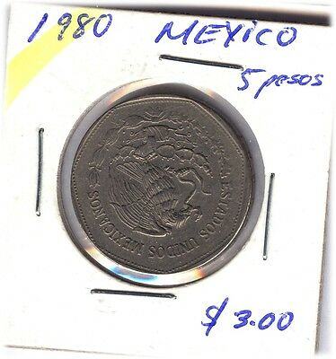 LOT OF  MEXICANS COINS FROM 1980-81