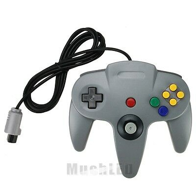 Gray Long Controller Game System for Nintendo 64 N64 New