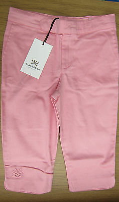 No Added Sugar Designer Girls Pink Stretch 3/4 Cropped Trousers  Ages 3-12 Bnwt