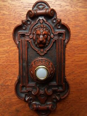 "New Victorian ""Lion"" Electric Doorbell Button"