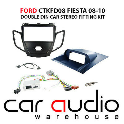 Ford Fiesta 2008-2010 Car Stereo D/Din Fascia & Steering Wheel Interface CTKFD08