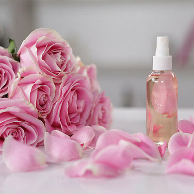 PREMIUM ORGANIC ROSE WATER 100% PURE SKIN FACE CLEANSER Comes with a Sprayer!!!