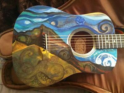 'Octangler' Custom Painted Baby Taylor Guitar