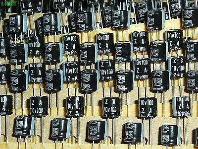 10x Rubycon 10V100uF 10V ZA Long life Electrolytic Capacitors 10ZA100MEFCT16.3X7