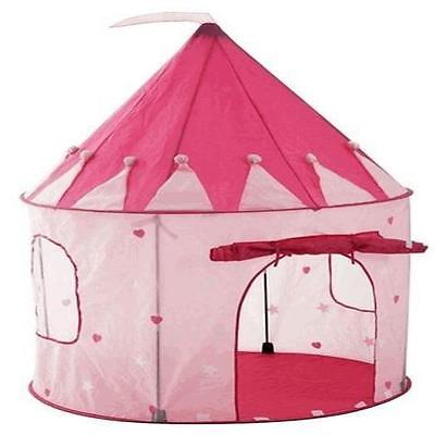 Girl's Pink Princess Fun Castle Play Tent House for Kids Indoor / Outdoor