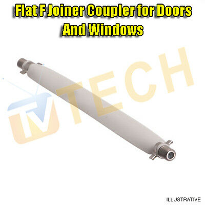 Flat F Satellite Cable Coupler for Door Frame and Windows With 2 F Connectors