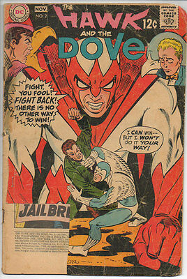 DC Comics HAWK AND THE DOVE 12¢ 1968 #2 PR Jail Break B&B