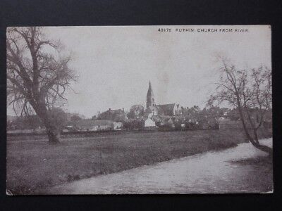 North Wales: Ruthin Church from River - Old Postcard by Photochrom Co No.48176