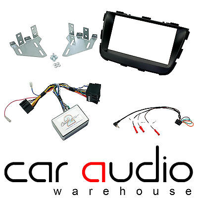Kia Sorento 2013 On Car Stereo D/Din Fascia Steering & Wheel Interface CTKKI21