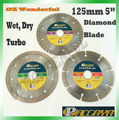 "125mm 5"" Dry/ Wet/Turbo Diamond Cutting Disc Saw Blade Disk Marble Tile Paccaya"